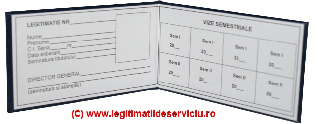 Legitimații de serviciu cartonate simple și personalizate