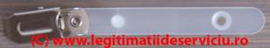 Clips metalic ecuson alb mat