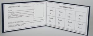 Legitimatie de serviciu simpla cartonata