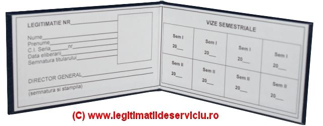 Legitimatii de serviciu cartonate simple si personalizate