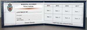 Model legitimatie de serviciu cartonata personalizata, legitimatii de serviciu personalizate interior